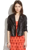 Madewell Leather Buttonup Motorcycle Jacket - Lyst