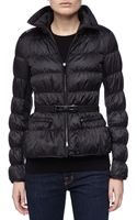 Burberry London Belted Puffer Coat with Hidden Hood Black Medium - Lyst