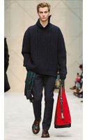 Burberry Cashmere Needlepunch Aran Sweater - Lyst
