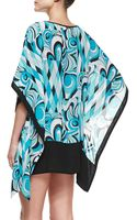 Michael by Michael Kors Printed Sheer Caftan Coverup - Lyst