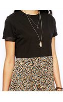 Asos Skater Dress with Daisy Skirt - Lyst