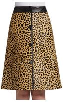 Lafayette 148 New York Spotted Leather Skirt - Lyst