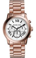 Michael Kors  Cooper Rose Golden Stainless Steel Chronograph Watch - Lyst