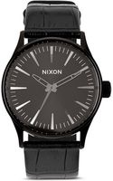 Nixon The Sentry Alligator-embossed Leather Strap Watch 38mm - Lyst
