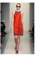 Bottega Veneta Silk Mixedmedia Dress - Lyst