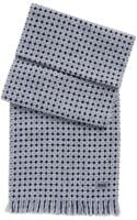 Hugo Boss Forello  Wool Geometric Print Scarf - Lyst