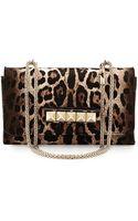 Valentino Va Va Voom Calf Hair Shoulder Bag Leopard - Lyst