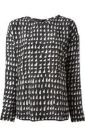 Cedric Charlier Printed Blouse - Lyst