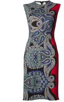 Lanvin Paisley Print Dress - Lyst