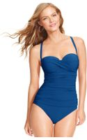 Gottex Bandeau Dcup One Piece Swimsuit - Lyst