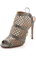 Aquazzura Blondie Studded Sandals - Slate Grey - Lyst