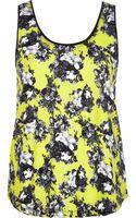 River Island Yellow Floral Print Scoop Neck Vest - Lyst