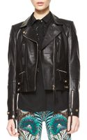 Roberto Cavalli Napa Leather Motorcycle Jacket - Lyst