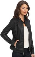 Calvin Klein Jeans Stand Collar Biker Jacket - Lyst