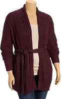 Old Navy Plus Belted Mixed-knit Cardis - Lyst