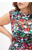 Forever 21 Abstract Watercolor Print Dress - Lyst