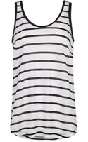 Mango Striped Linenblend Top - Lyst