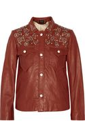Isabel Marant Craig Embellished Leather Jacket - Lyst