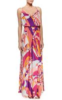 Emilio Pucci Printed Sleeveless Jersey Maxi Dress - Lyst