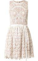 RED Valentino Owl Crochet Dress - Lyst