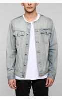 Cheap Monday Denim Cut Collar Jacket - Lyst
