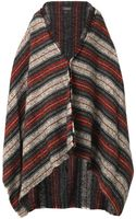 Isabel Marant Idoa Striped Blanket Coat - Lyst