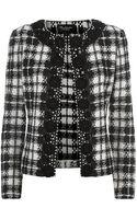 St. John Embellished Tweed Jacket - Lyst