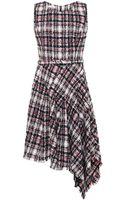 Oscar de la Renta Asymmetric-hem Tweed Dress - Lyst