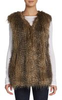 Via Spiga Faux Fur Zip Vest - Lyst