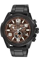 Citizen Mens Chronograph Drive From Ecodrive Black Ionplated Stainless Steel Bracelet 48mm 56x - Lyst