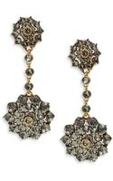 Oscar de la Renta Crystal Jeweled Drop Earrings Crystal Jeweled Drop Earrings - Lyst
