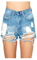 Nasty Gal Summer Sky Cutoff Shorts - Lyst