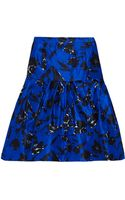 Oscar De La Renta For The Outnet Floral-Print Silk and Cotton-blend Skirt - Lyst