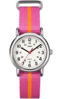 Timex® Ladies Weekender Silver Tone Watch - Lyst