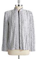 Alex Evenings Sparkle Zip Up Jacket - Lyst