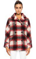 Etoile Isabel Marant Gael Check Wool-blend Jacket - Lyst