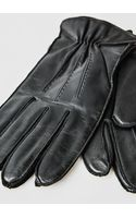Mango Leather Woolblend Gloves - Lyst