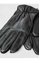 He By Mango Leather Woolblend Gloves - Lyst