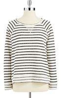 Calvin Klein Performance Long Sleeve Striped Sweatshirt - Lyst