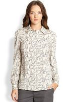Tory Burch Silk Angelique Blouse - Lyst