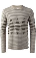 Armani Patterned Sweater - Lyst
