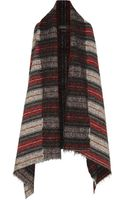 Isabel Marant Idoa Wool Blend Blanket Coat - Lyst
