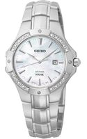 Seiko Womens Coutura Solar Diamond Accent Stainless Steel Bracelet Watch 29mm Sut123 - Lyst