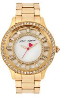 Betsey Johnson Ladies Stainless Steel Crystal Watch - Lyst