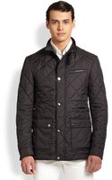 Ferragamo Quilted Jacket - Lyst