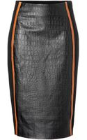 Jonathan Simkhai Embossed Leather Pencil Skirt with Stretch Paneling - Lyst