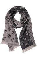Giorgio Armani Logo Jacquard Wool Knit Scarf - Lyst