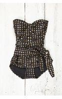 Free People Vintage Black Metallic Swimsuit - Lyst