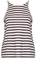 T By Alexander Wang Striped Scoopback Tank Top - Lyst