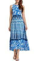 Cynthia Steffe Sydney Long Sleeveless Printed Highlow Dress - Lyst